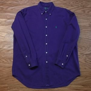 *Ralph Lauren Blake Purple Button Down Shirt*
